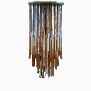 Glass Hanging Light from Mazzega, 1960s