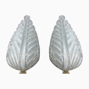 Murano Glass Sconces from Barovier & Toso, 1940s, Set of 2