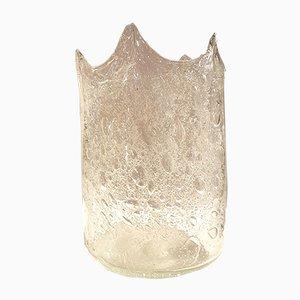 Braune Mundgeblasene Murano Glas Vase von Carlo Nason, 1970er