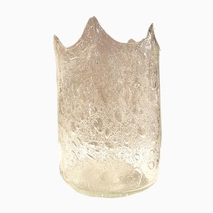 Jarrón vintage de cristal de Murano soplado de Carlo Nason, años 70