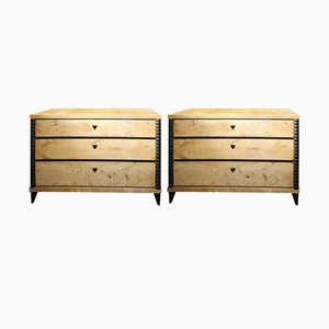 Biedermeier Chests of Drawers, Set of 2