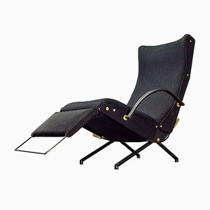 Verstellbarer First Edition P40 Liegestuhl von Osvaldo Borsani für Tecno, 1955