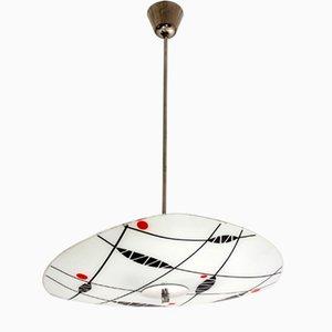 Gemusterte Mid-Century Deckenlampe von Napako