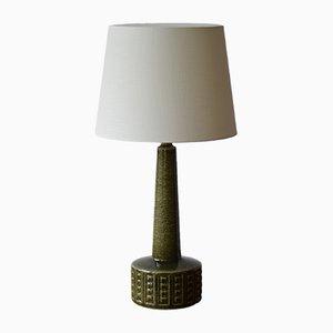 Lámpara de mesa escandinava en verde musgo de Annelise & Per Linnemann-Schmidt para Palshus, años 60