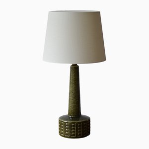 Scandinavian Table Lamp in Moss Green by Annelise & Per Linnemann-Schmidt for Palshus, 1960s