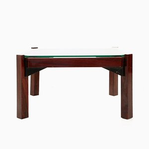 Italian Rosewood & Glass Coffee Table, 1960s