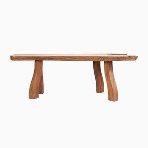Table d'Appoint Mid-Century en Orme par Carl-Axel Beijbom pour Simmlingegården