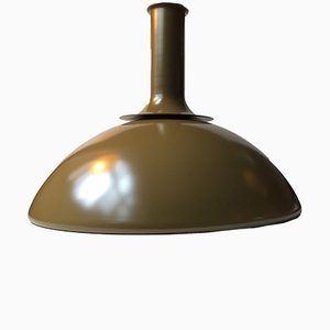 Olive Green Ballerina Ceiling Lamp by Sidse Werner for Holmegaard, 1970s