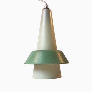 Lámpara colgante danesa modernista rayada de Voss, años 50