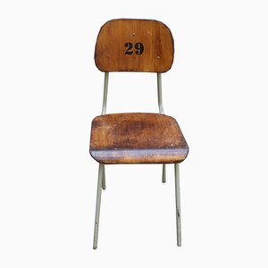 Industrial Numbered Factory Chair, 1970s
