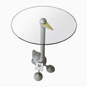 Tavolino da caffè Sirfo in vetro ed alluminio di A. Mendini per Zanotta, anni '90