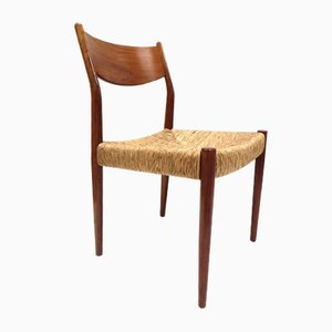 Vintage Papercord Dining Chairs, 1960s, Set of 4