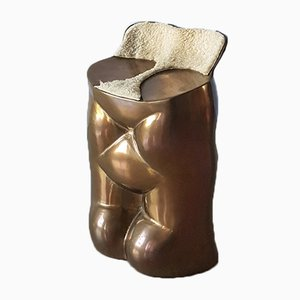 Bronze Fausto Stool by Novello Finotti for Simon International, 1984