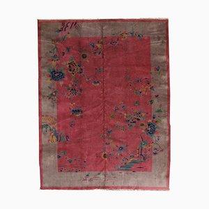 Alfombra china hecha a mano, años 20