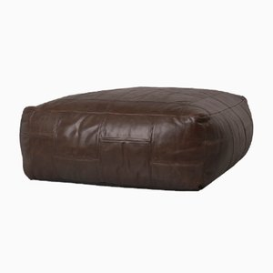 Grand Pouf ou Repose-Pied Vintage en Cuir Artificiel