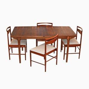 Table de Salle à Manger et 4 Chaises Mid-Century en Palissandre par Tom Robertson pour McIntosh