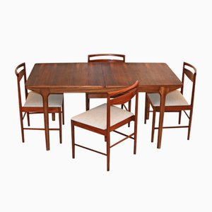 Tavolo da pranzo Mid-Century in palissandro con 4 sedie di Tom Robertson per McIntosh