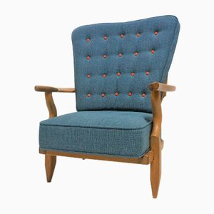 Vintage Armchair by Guillerme et Chambron for Votre Maison