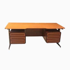 Vintage Italian Desk in Wood & Metal