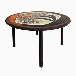 French Brutalist Coffee Table, 1950s