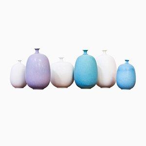 Vases Vintage en Grès par Inger Persson pour Rörstrand, Set of 6