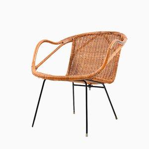 Silla danesa en forma de cesta, años 40