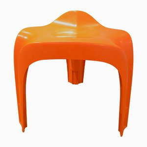 Vintage Orange Casalino Stool by Alexeander Begge for Casala