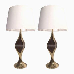 Lámparas de mesa brutalistas de Laurel, años 70. Juego de 2