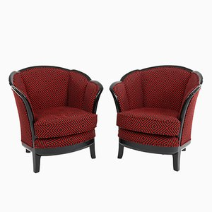 Art Deco Club Chairs, 1930s, Set of 2