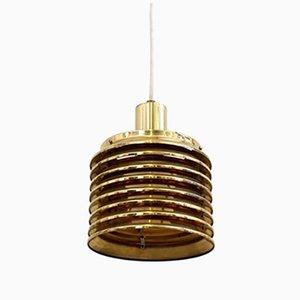 Lampada a sospensione T642 in ottone di Hans-Agne Jakobsson, anni '60