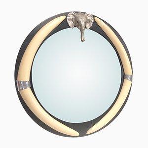 Specchio vintage con testa di elefante di Chapman