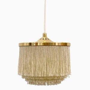 Lámpara colgante de flecos de seda blancos de Hans-Agne Jakobsson, años 60