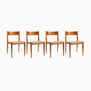 Dining Chairs PIA by Poul Cadovius for Girsberger, 1960s, Set of 4