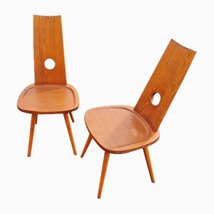 Brutalist Chairs, 1960s, Set of 2