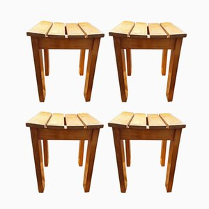Vintage Hocker, 1970er, 4er Set