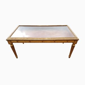 19th Century Gilded Wooden Display Table