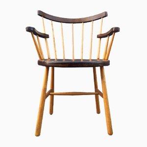 Danish Windsor Armchair with Club-Shaped Legs, 1950s
