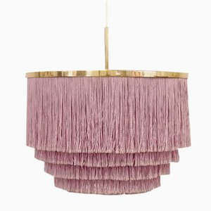 Purple Silk Fringe Pendant by Hans-Agne Jakobsson for Hans-Agne Jakobsson AB, 1960s