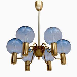 Lámpara de araña T 372/6 Patricia de Hans-Agne Jakobsson para Hans-Agne Jakobsson AB, años 60