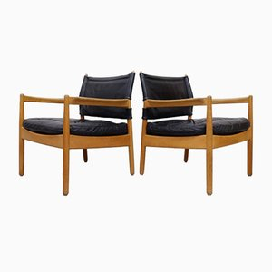 Easy Chairs by Gunnar Myrstrand for Källemo, 1960s, Set of 2