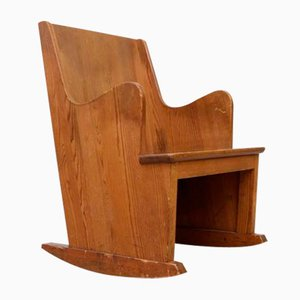 Lovö Rocking Chair by Axel-Einar Hjorth for Nordiska Kompaniet, 1930s