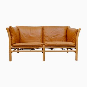 Ilona 2-Seater Leather Sofa by Arne Norell, 1960s