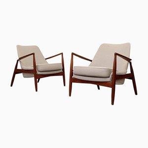 Sälen Stühle von Ib Kofod-Larsen für OPE Möbler, 1960er, 2er Set