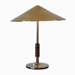 Danish Brass Table Lamp by Bent Karlby for Lyfa, 1956