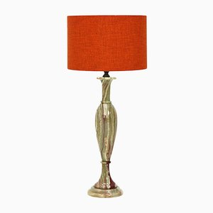 Lámpara de mesa con base de mármol, años 60