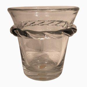 Secchiello da champagne vintage in vetro di Daum
