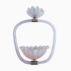 Lámpara colgante de cristal de Murano de Barovier & Toso, años 40