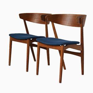 Modell Nr. 7 Beistellstühle von Helge Sibast für Sibast, 1950er, 2er Set