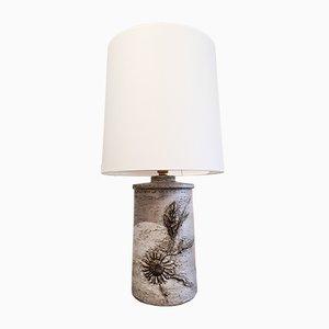 Lámpara de mesa grande de cerámica de Huguette & Marius Bessone para Vallauris, años 70