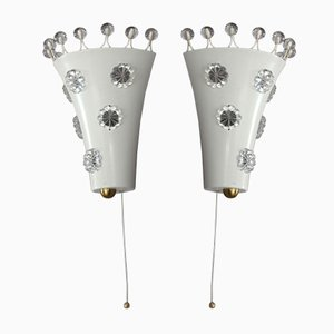 Wall Sconces from Rupert Nikoll, 1950s, Set of 2